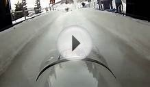 Bobsled Helmet Cam down the Bobsled Track - Utah Olympic Park