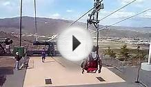 Park City Utah Zip Line Ride at Olympic Village Park